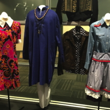 Two of Julie Flinders costumes flank those of Tod Richards and Jimmy Flinders