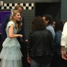 Monica Moore Smith and Mason D. Davis meet fans
