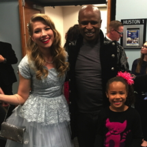 Monica Moore Smith and Alex Boye and daughter