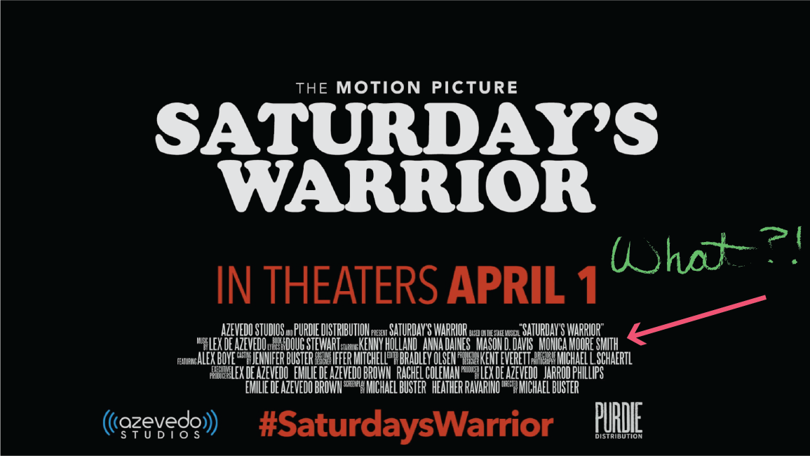 Saturday's Warrior Billing Block