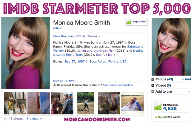 IMDB STARmeter Top 5,000