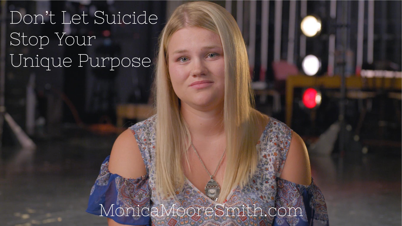Don't Let Suicide Stop Your Unique Purpose